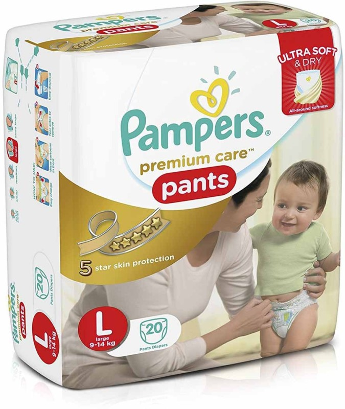 Pampers Premium Care Pants - L(20 Pieces)