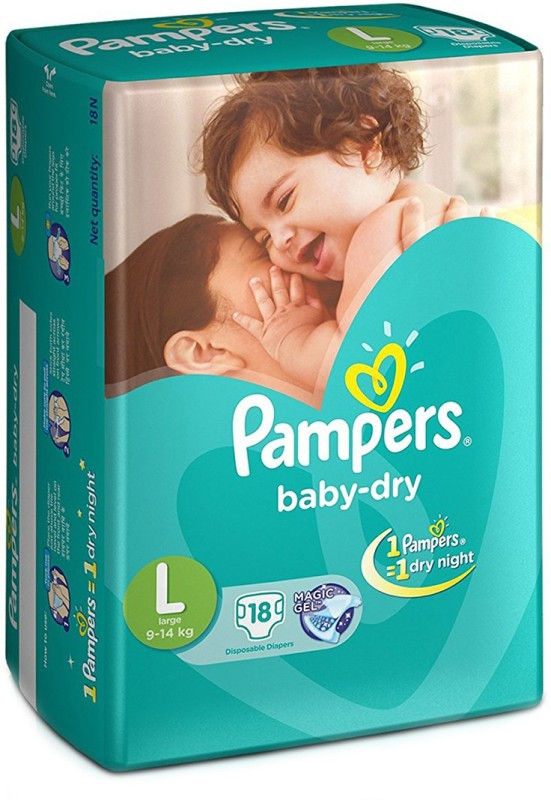 Pampers Baby-Dry Diapers - L(18 Pieces)