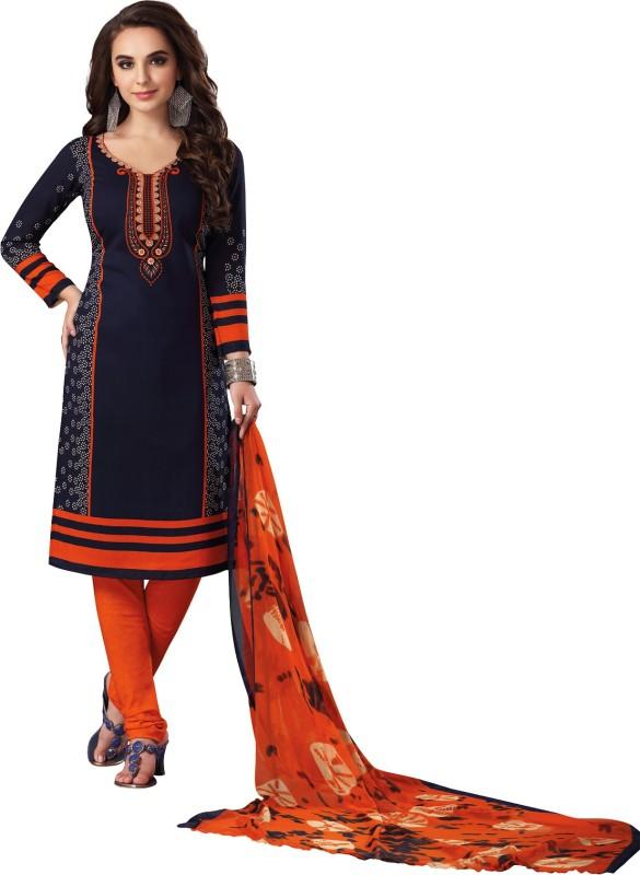 Salwar Studio Synthetic Floral Print Salwar Suit Dupatta Material(Un-stitched)