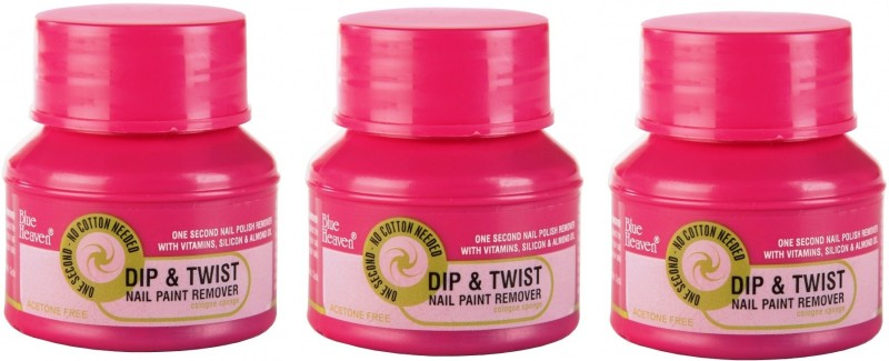 Blue Heaven Dip & Twist Nail Paint Remover PACK OF 3(120 ml)