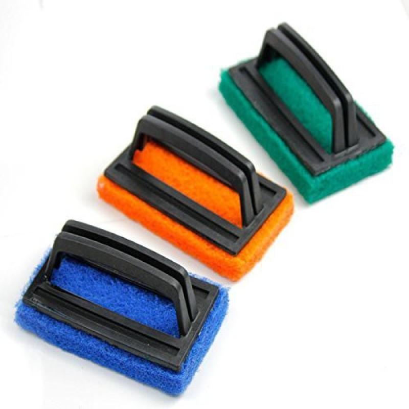 Skywalk Sponge Brush Floor Tile Scrubber Polisher Cleaning Brush Set of 3 Pieces Scrub Sponge(Regular, Pack of 3)