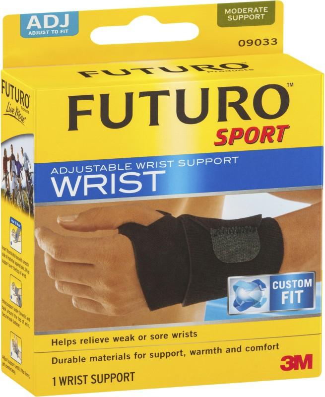 Futuro Sport Adjustable Wrist Support Wrist Support (Free Size, Black)