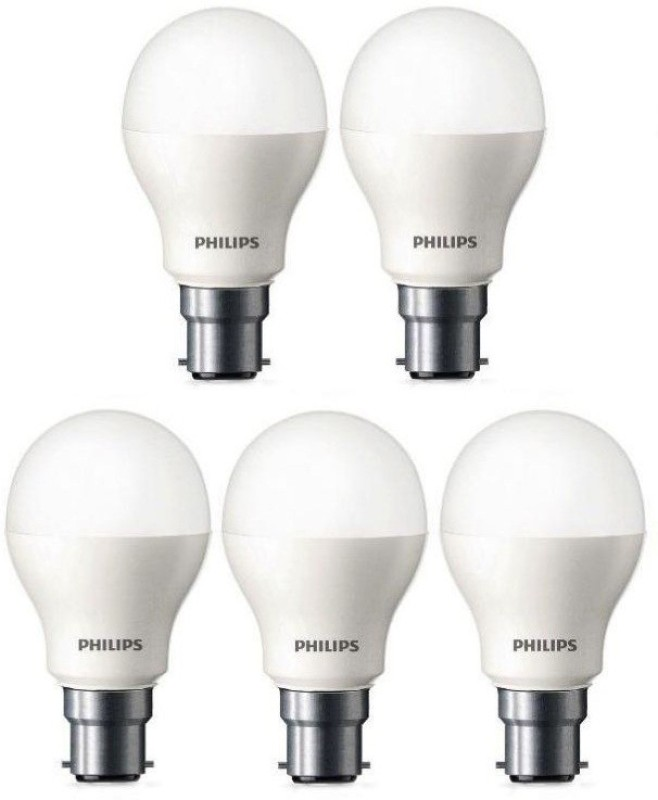 Philips 9 W Standard B22 LED Bulb(White, Pack of 5) Image