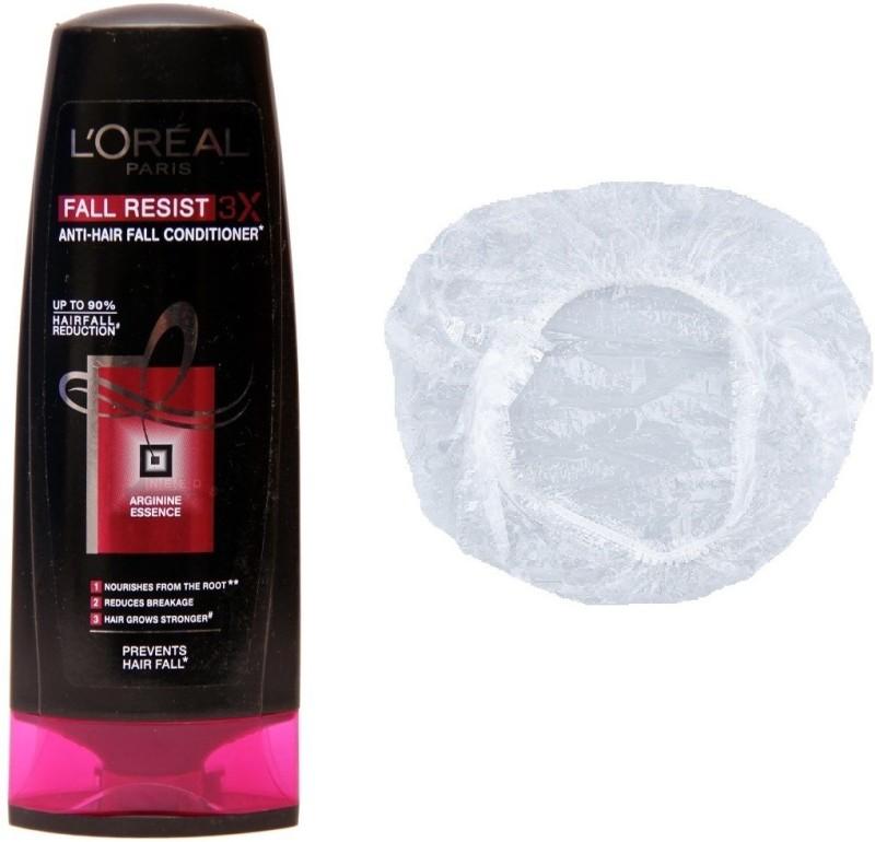 L'Oreal Paris Fall Resist 3x Anti-Hair Fall Set of 2 (Conditioner+Shower Cap)(Set of 2)