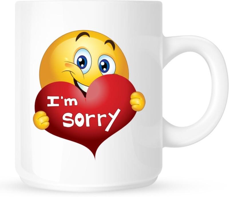 Chanakya I Am Sorry White Coffee Ceramic Mug(350 ml)