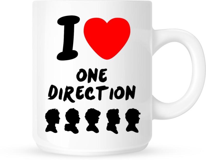 Chanakya I Love One Direction White Coffee Ceramic Mug(350 ml)