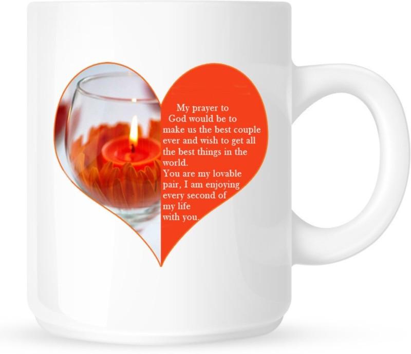 Chanakya Best Husband White Coffee Ceramic Mug(350 ml)