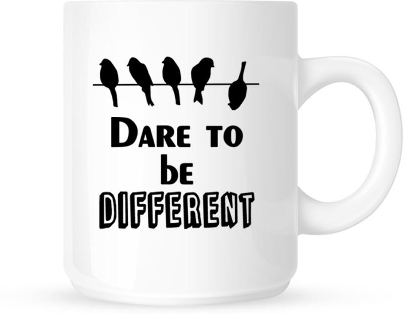 Chanakya Dare To Be Different White Coffee Ceramic Mug(350 ml)