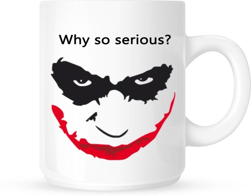 Chanakya Johnny Bravo White Coffee Ceramic Mug(350 ml)