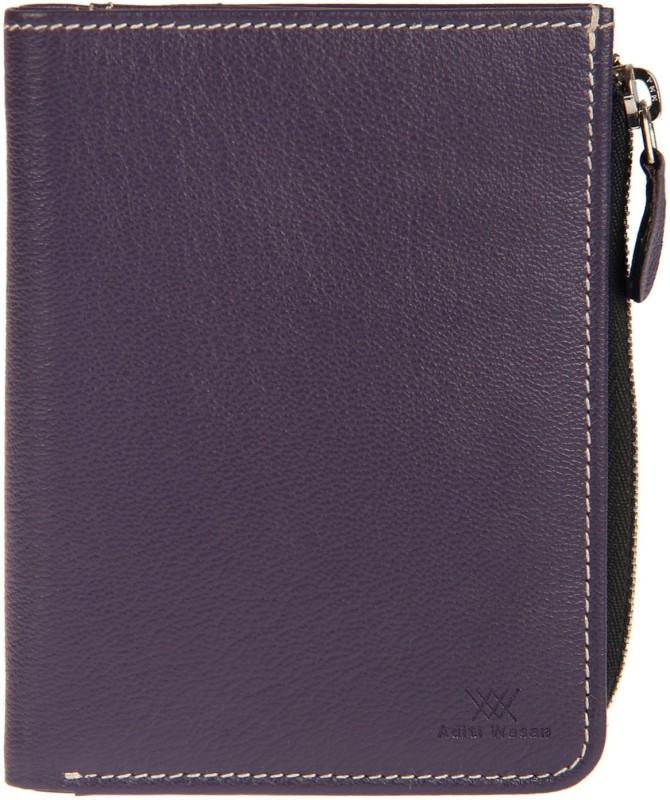 Aditi Wasan Girls Purple Genuine Leather Wallet(6 Card Slots)