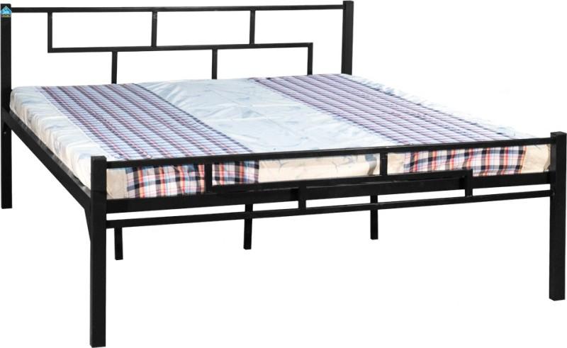 Delite Kom Aeron Metal Queen Bed(Finish Color - Black)