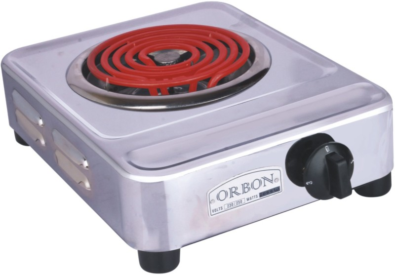 Orbon G Coil Stove 2000 Watts Silver Chrome ( With...