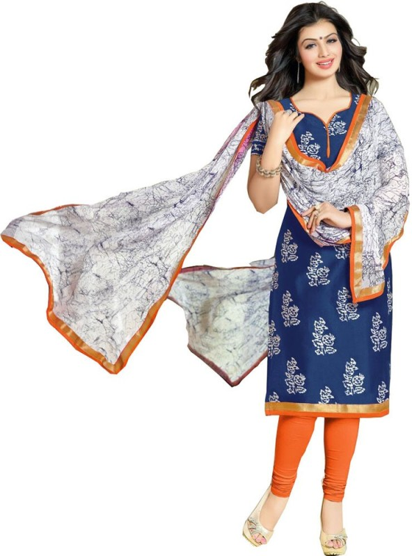 A AND V FASHION Cotton Printed Suit Fabric(Un-stitched)