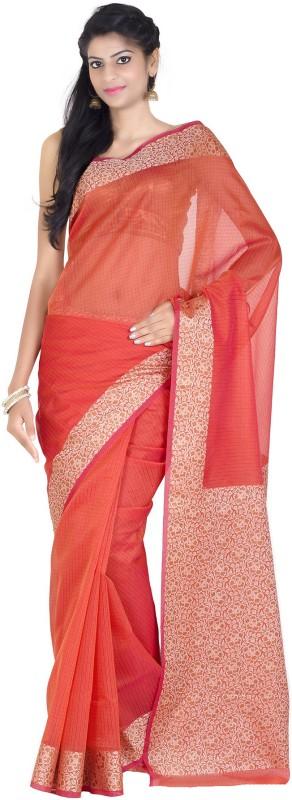 Chandrakala Self Design Banarasi Handloom Silk Cotton Blend Saree(Multicolor)