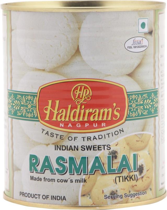 Haldirams Rasmalai(1 kg, Tin)