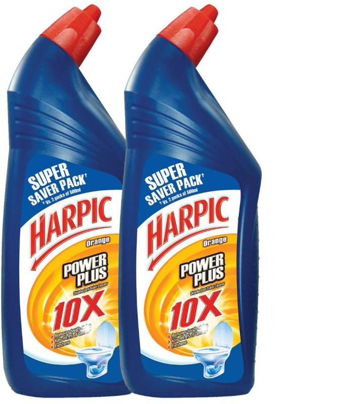 Harpic PowerPlus Orange Liquid Toilet Cleaner(1 L, Pack of 2)
