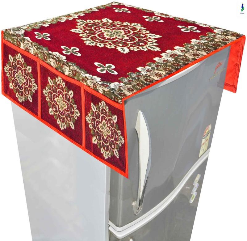 Nisol Refrigerator Cover(Classic Maroon Rangoli)