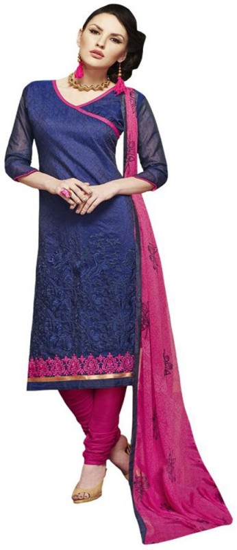 A AND V FASHION Cotton Embroidered Suit Fabric(Un-stitched)
