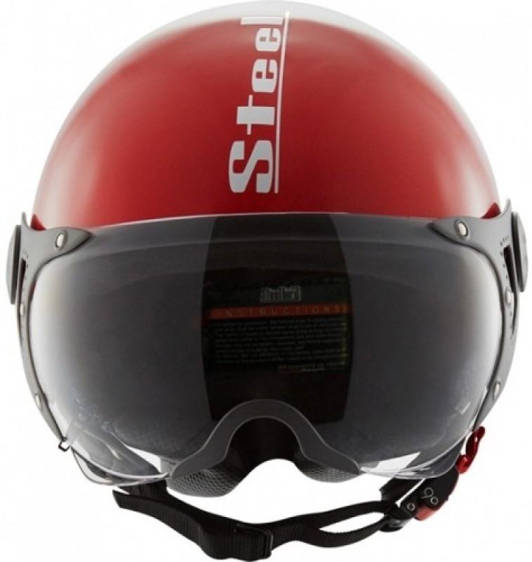 Steelbird SB-27 Style Motorbike Helmet(Cherry Red)