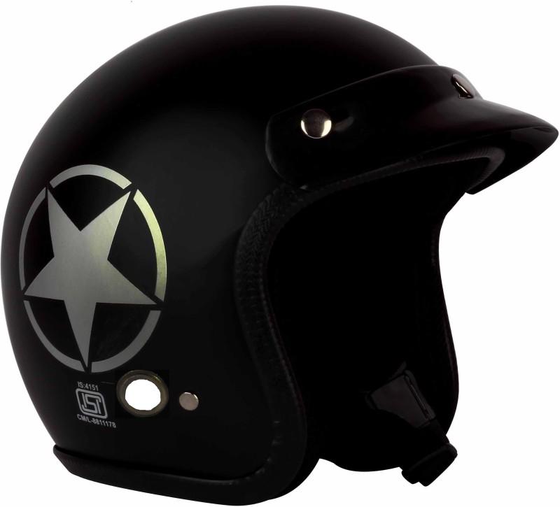 O2 BIKERWEAR'S Motorbike Helmet(Black)