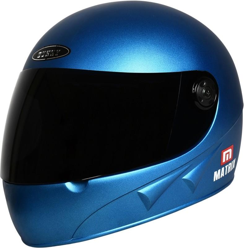 stranger sunny matrix Motorbike Helmet(Blue)