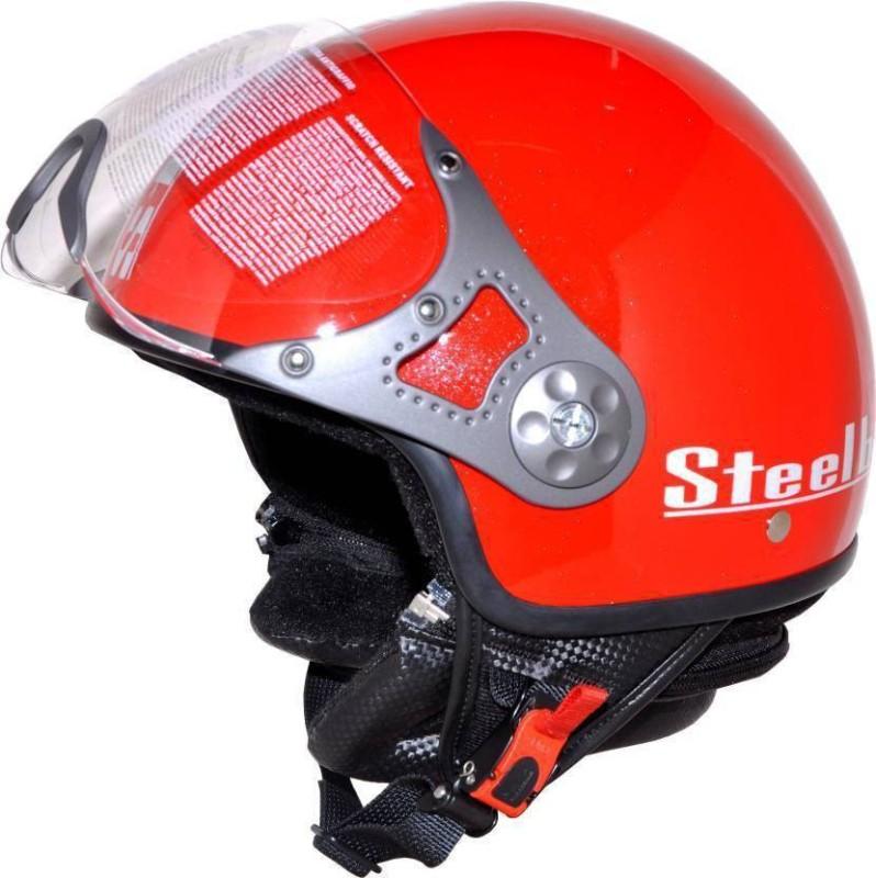 AUTOTRUMP steelbird sb 27 Motorbike Helmet(Red)