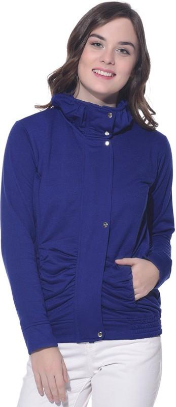 Purys Full Sleeve Solid Women Fleece Jacket