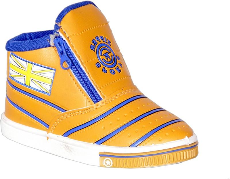 Polymac kids Boys & Girls Slip on Casual Boots(Brown)
