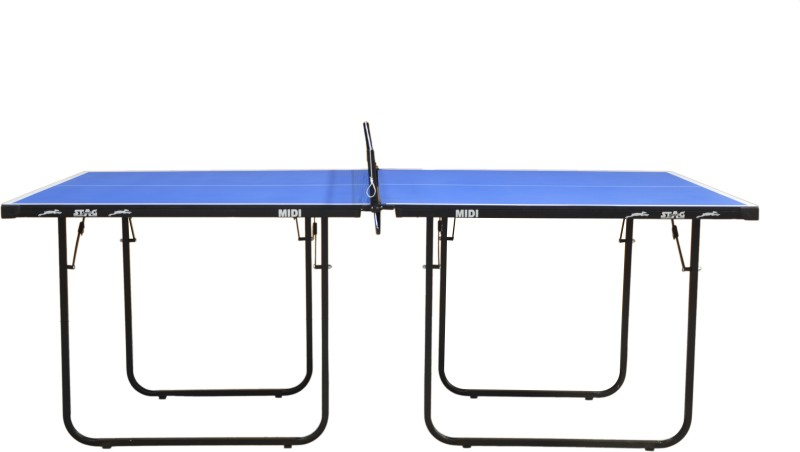 Stag Midi Stationary Indoor Table Tennis Table(Blue, Blue)