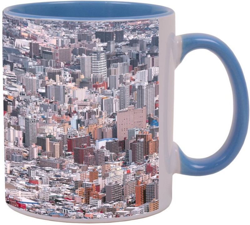 Arkist sapporo winter Blue Ceramic Mug(340 ml)