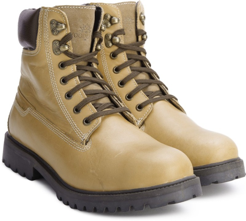 Woodland Leather Boots For Men(Tan, Brown)