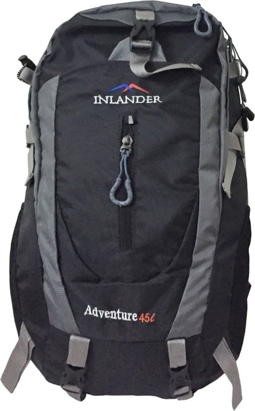 Inlander 1018 Black Travel Daypack Rucksack - 35 L(Black)
