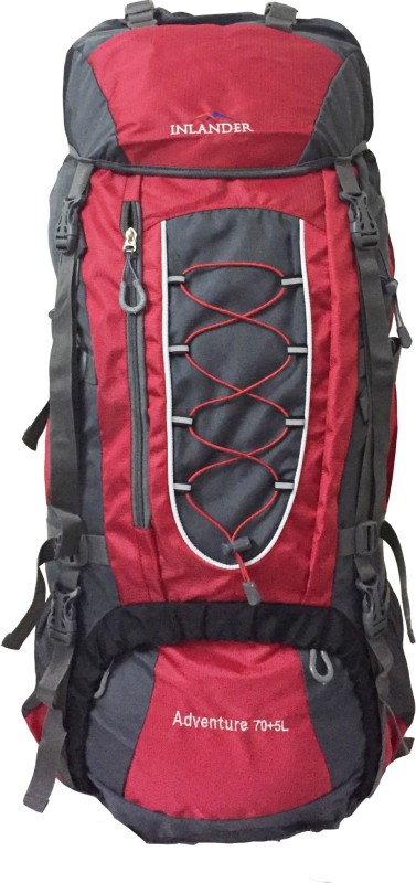 Inlander 1010 Red Travel Bag Rucksack - 70 L(Red)