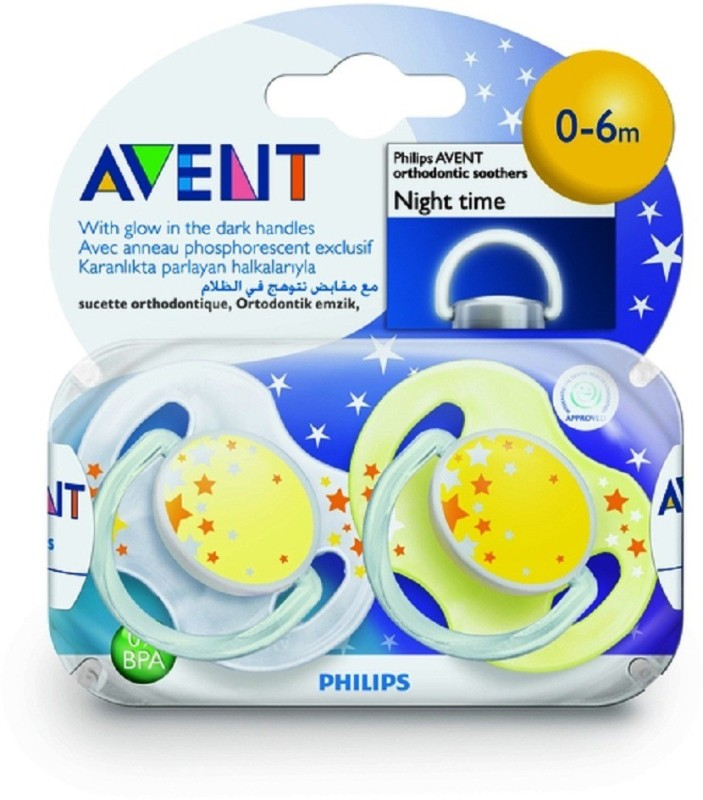 Philips Avent NightTime Soother(Blue, White)