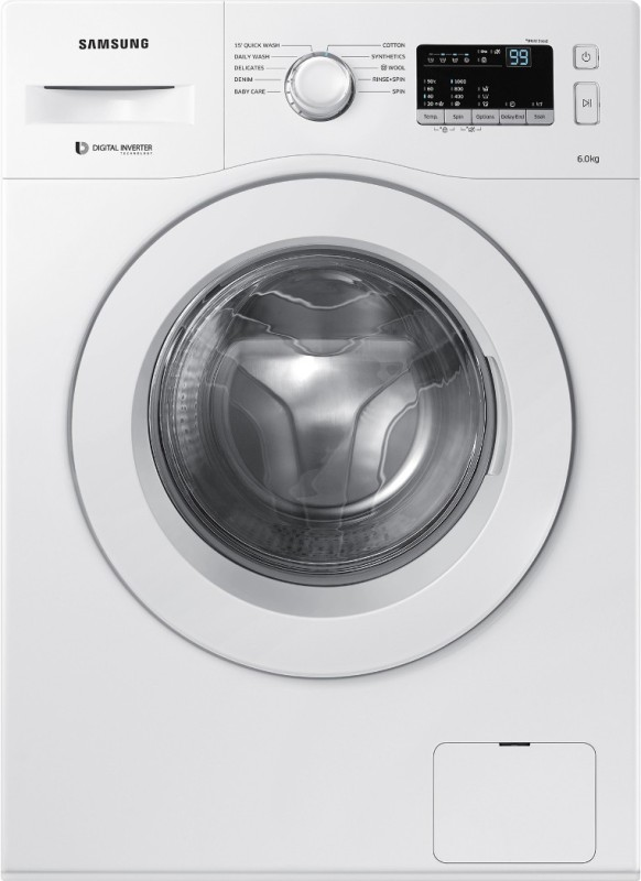 SAMSUNG WW60M206LMW 6KG Fully Automatic Front Load Washing Machine