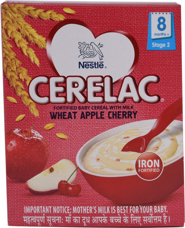 Nestle Cerelac - Wheat Apple Cherry Cereal for Babies & Infants(300 g)