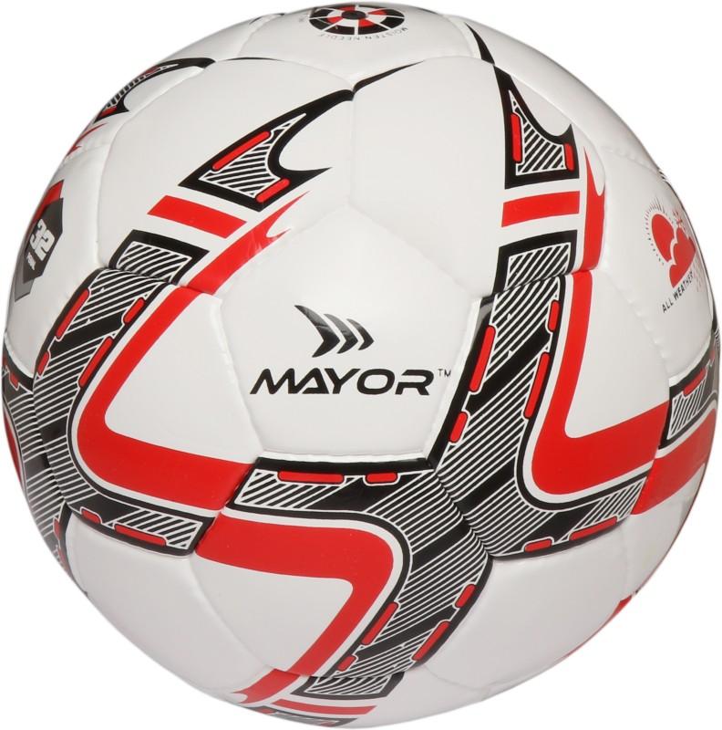 Mayor Barcelona Futsal Football - Size: 4(Pack of 1, White, Black, Red)