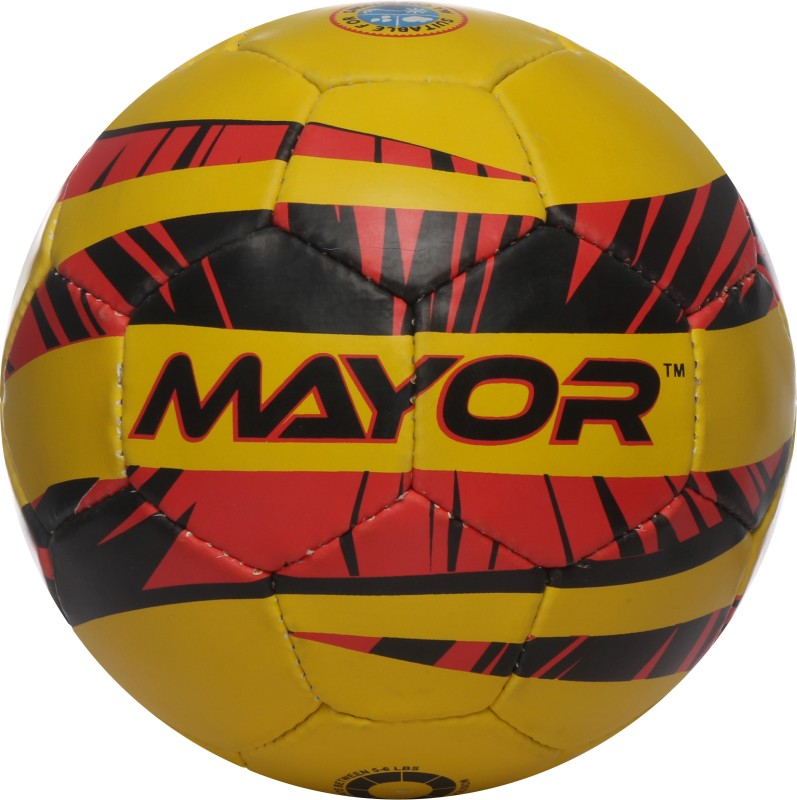 Mayor Contra Germany Football - Size: 5(Pack of 1, Yellow, Red, Black)