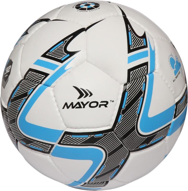 Mayor Estadio Football - Size: 5(Pack of 1, White, Blue, Black)