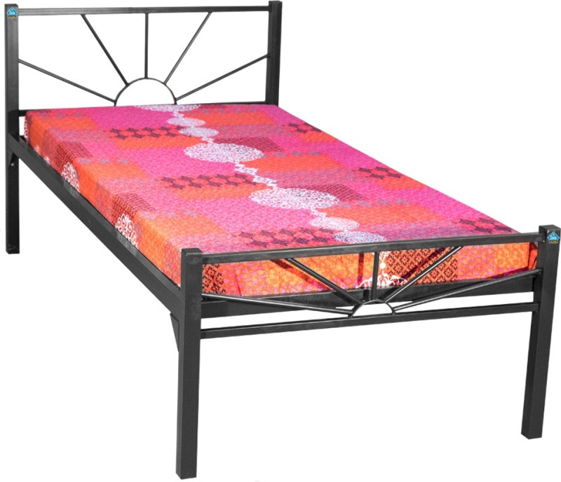 Delite Kom Sunshine Metal Single Bed(Finish Color - Black)