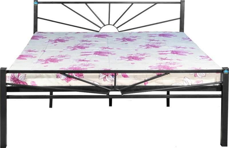 Delite Kom Metal Queen Bed(Finish Color - Black)