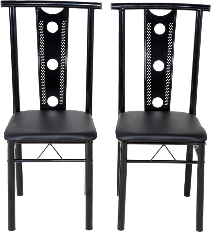 Woodness Metal Dining Chair(Set of 2, Finish Color - Black)