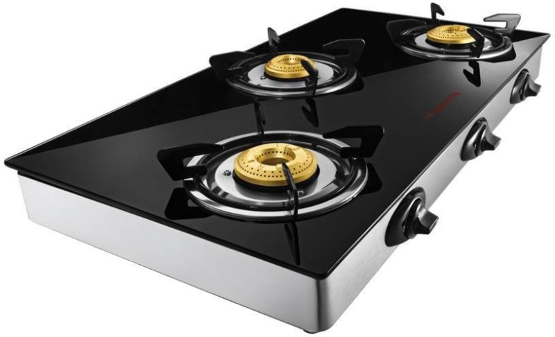 Butterfly REFLECTION GLASS TOP 3B Steel Manual Gas Stove(3 Burners)