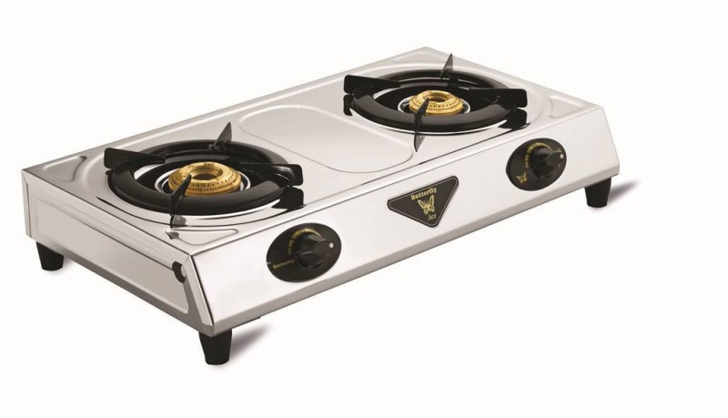 Butterfly ACE SS 2B Stainless Steel Manual Gas Stove(2 Burners)