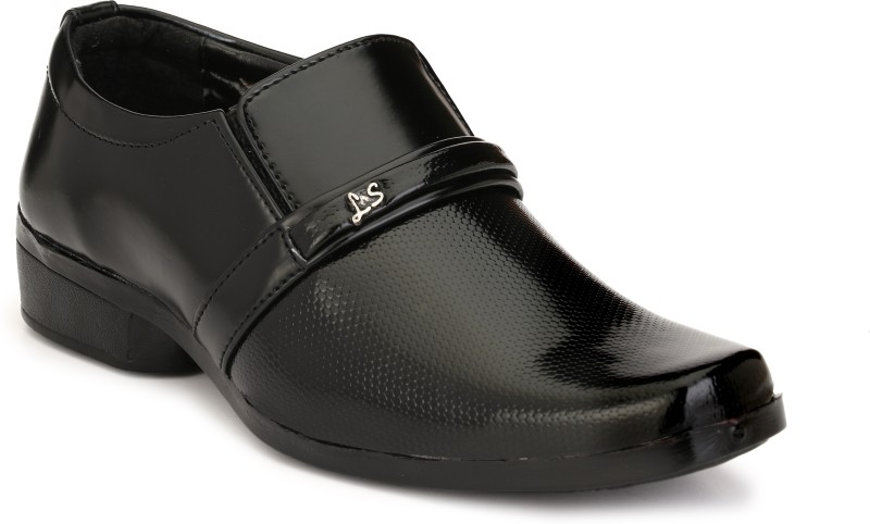 Trilokani Boys Slip on Formal Boots(Black)