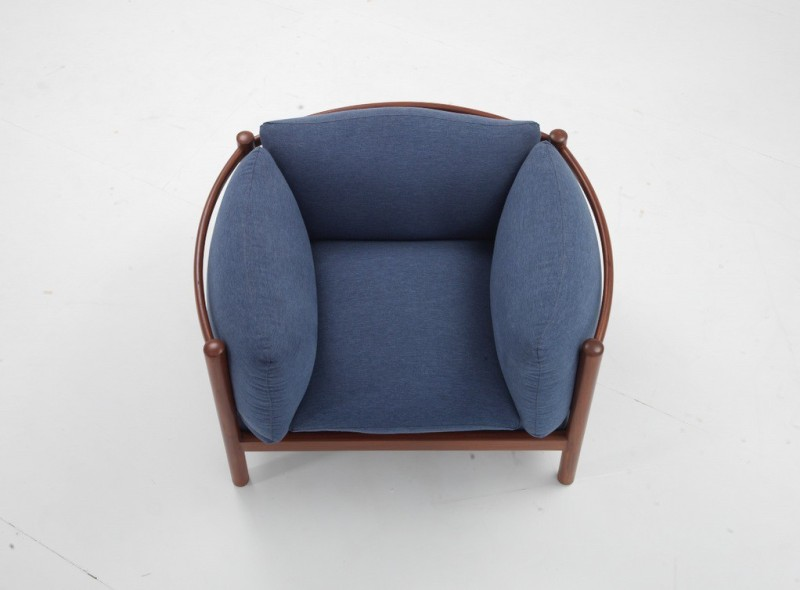 HOF Jalsa Leatherette Living Room Chair(Finish Color - Blue)