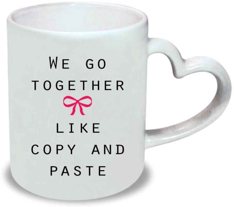 Chanakya Like this Heart Handle White Coffee Ceramic Mug(350 ml)