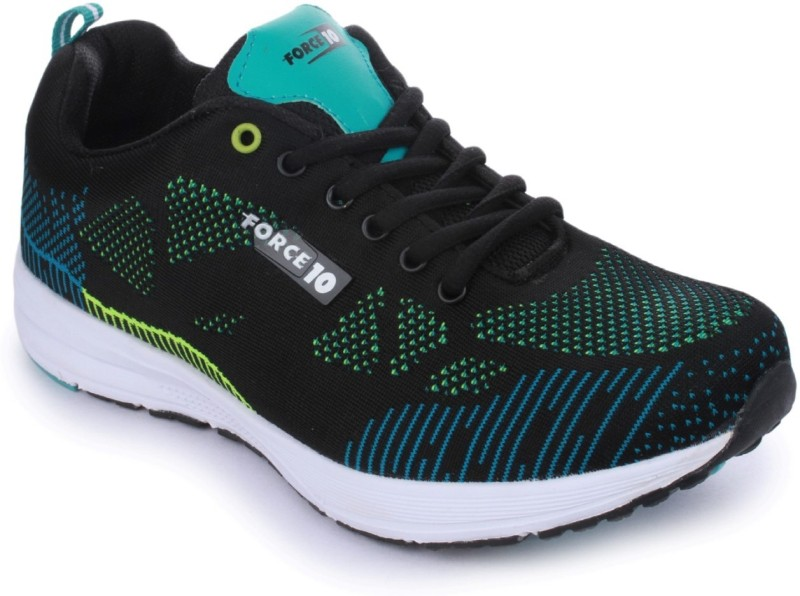 Force 10 Force 10 by Liberty Mens Sports Shoe (BOOSTER-1-BLACK) Running Shoes(Black)