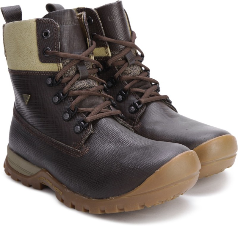 Woodland Leather Boots For Men(Brown)
