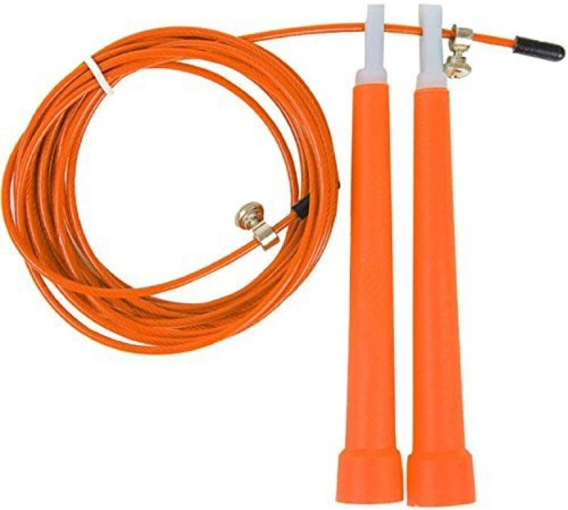 Sports Solutions Good Quality Orange Adjustable Speed Cable Wire Jump Rope. Speed Skipping Rope(Orange, Length: 737 cm)